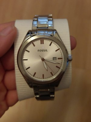 Fossil bq3183 neu Armbanduhr Damenuhr Edelstahl silber