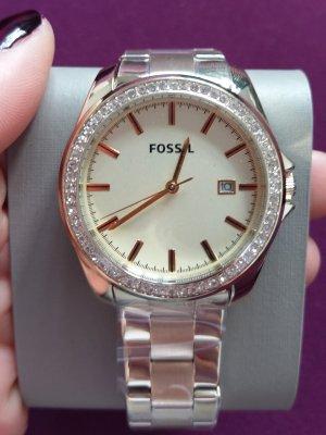 Fossil bq3189 neu Damenuhr Armband gold kristall edelstahl