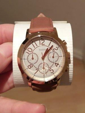 fossil bq3230 Damenuhr neu armbanduhr leder rosė