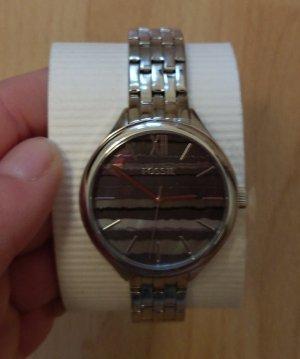 Fossil bq3246 neu Damenuhr Armbanduhr silber Edelstahl