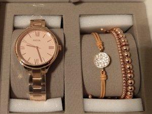 Fossil bq3349 Damenuhr neu rosė set armband armbanduhr