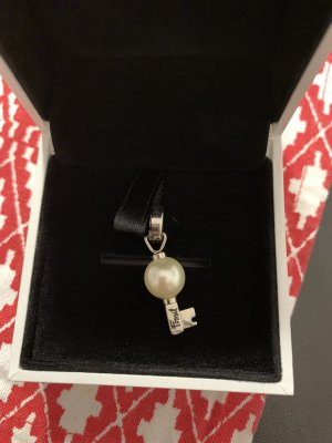 Fossil Charm white-silver-colored