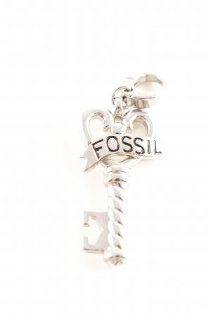 Fossil Charm silberfarben-schwarz Street-Fashion-Look