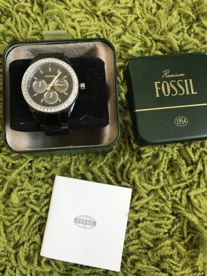 Fossil Analog Watch black-silver-colored