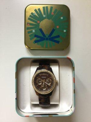 Fossil Chronograph gold/braun