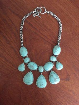 Fossil Collar estilo collier azul claro
