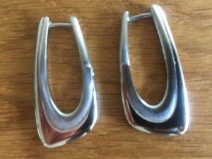 Fossil Creolen Ohrringe Silber Edelstahl (NEU)