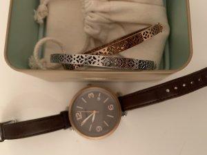 Fossil Damen Set aus Uhr und Armbändern