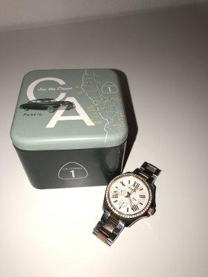Fossil Damen Uhr AM4496 Bicolor chronograph