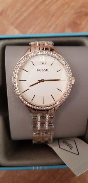fossil Damen Uhr gold neu Metallband