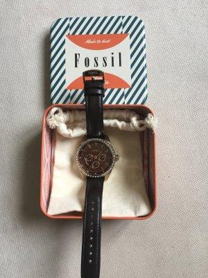 Fossil Damen Uhr mit Lederarmband