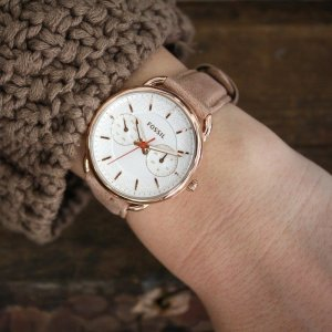 Fossil Watch With Leather Strap nude leather