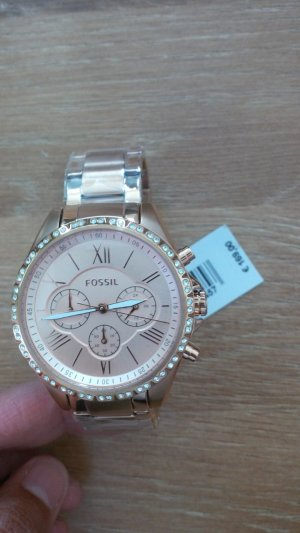 Fossil Watch With Metal Strap gold-colored-pink stainless steel