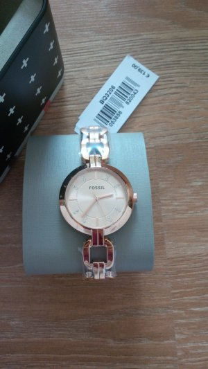 Fossil Watch With Metal Strap pink-gold-colored stainless steel