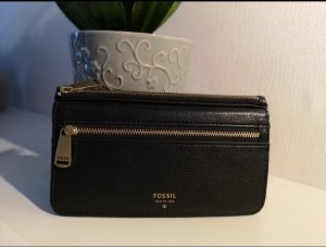 Fossil Wallet black-gold-colored