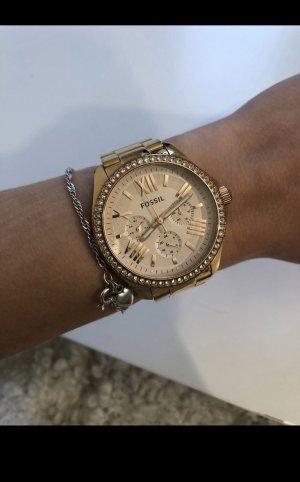 Fossil Horloge met metalen riempje roségoud