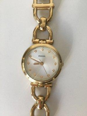 Fossil Reloj con pulsera metálica color oro acero inoxidable