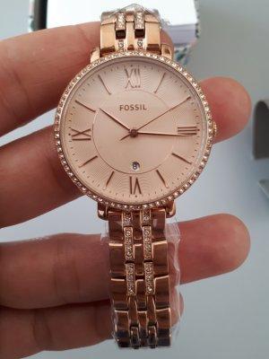 Fossil Montre avec bracelet métallique or rose