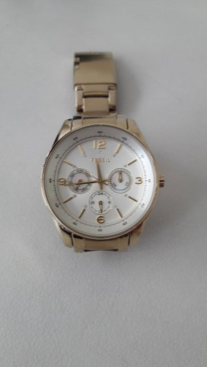 Fossil Analog Watch gold-colored-natural white