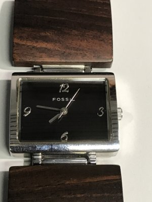 Fossil Watch silver-colored-brown metal