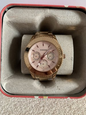 Fossil Watch With Metal Strap rose-gold-coloured stainless steel