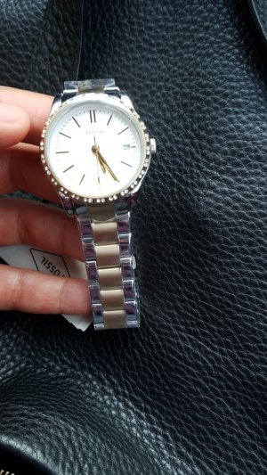 Fossil Watch With Metal Strap silver-colored-gold-colored
