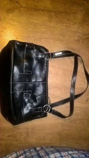 Fossil Echtleder Handtasche schwarz neu