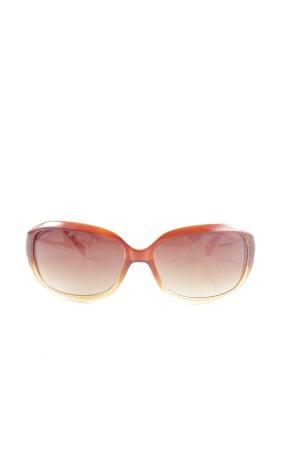 Fossil eckige Sonnenbrille hellorange-blassgelb Farbverlauf Casual-Look