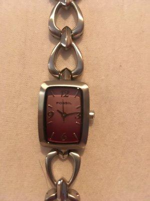 Fossil Edelstahl Armbanduhr in gutem Zustand
