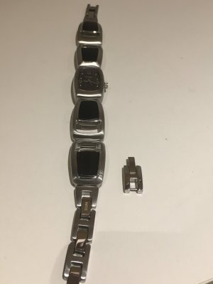 Fossil Watch With Metal Strap dark brown-silver-colored stainless steel