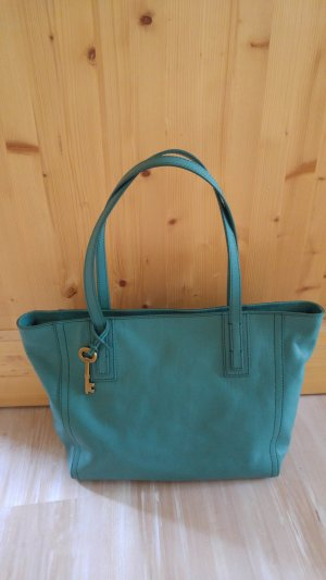 Fossil Emma Tote Teal Green