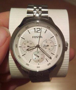 fossil es3249 damenuhr neu armbanduhr silber ungetragen