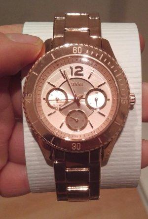 fossil es3815 damenuhr armbanduhr neu edelstahl rosé gold