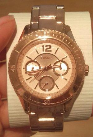 fossil es3815 stella damenuhr armbanduhr rosé neu edelstahl