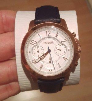 fossil es4040 damenuhr leder neu ungetragen armbanduhr