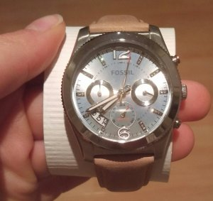 fossil es4080 damenuhr armbanduhr leder neu ungetragen