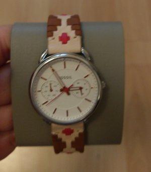 Fossil es4226 Damenuhr Armbanduhr Leder Chronograph