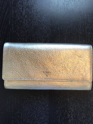 Fossil Wallet gold-colored-petrol