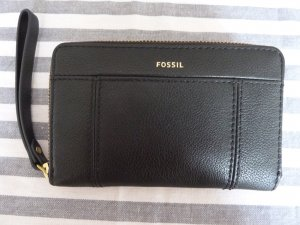 Fossil Wallet black-gold-colored leather