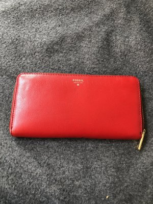 Fossil Wallet red
