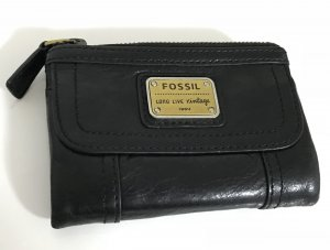 Fossil Geldbörse Leder schwarz