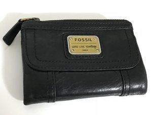 Fossil Portefeuille noir-brun sable cuir