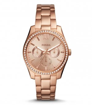 Fossil Glitzer Armbanduhr rose gold