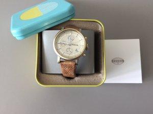 Fossil goldene Armbanduhr im Vintagelook