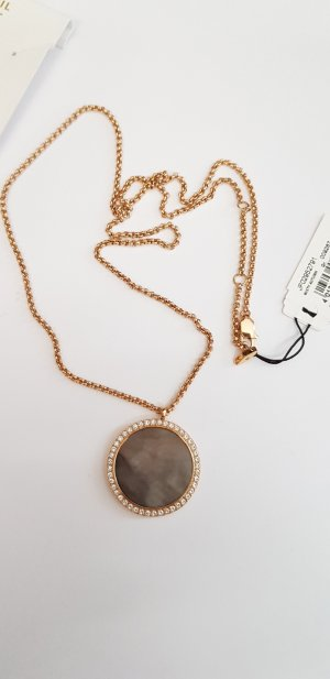 Fossil Necklace rose-gold-coloured-grey