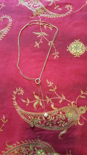Fossil Halskette gold/silber