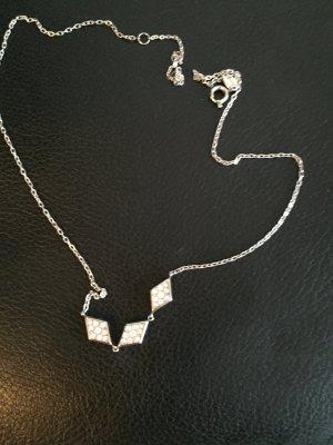 Fossil Halskette mit 3 Gliedern silberfarben