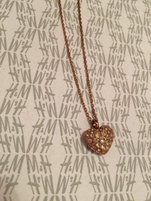 Fossil Halskette mit Herz