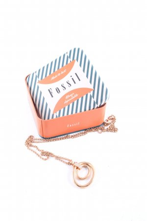 Fossil Necklace rose-gold-coloured-silver-colored glittery
