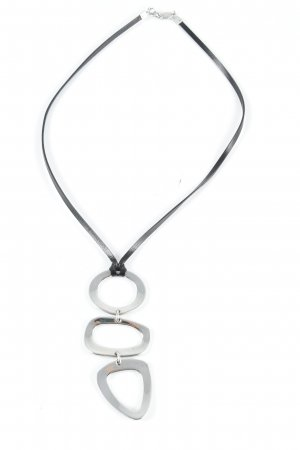Fossil Necklace black-silver-colored classic style